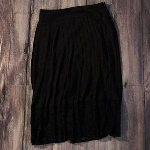 Express Mid Length Skirt with Lace Bottom Detail